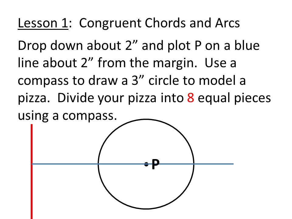 Date 113 Notes Congruent Chords And Arcs Lesson Objective