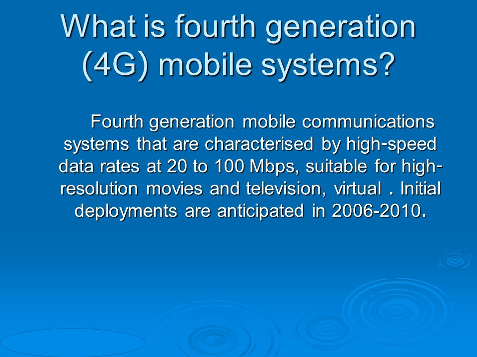 advantages and disadvantages of 4g technology pdf
