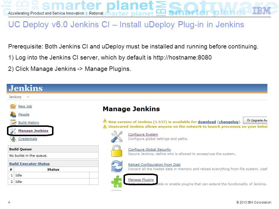 2013 IBM Corporation IBM UrbanCode Deploy v6 0 Support