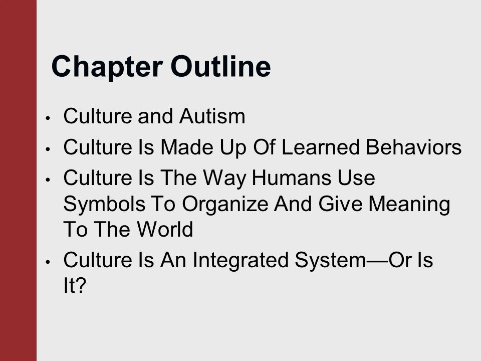 chapter 2 culture counts chapter outline culture and autism culture