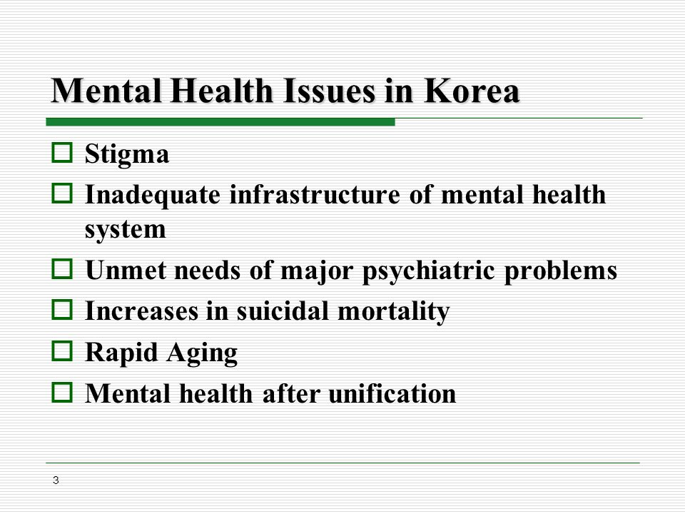 Changing Mental Health Policy In Korea Dong Won Chang M D Ph D