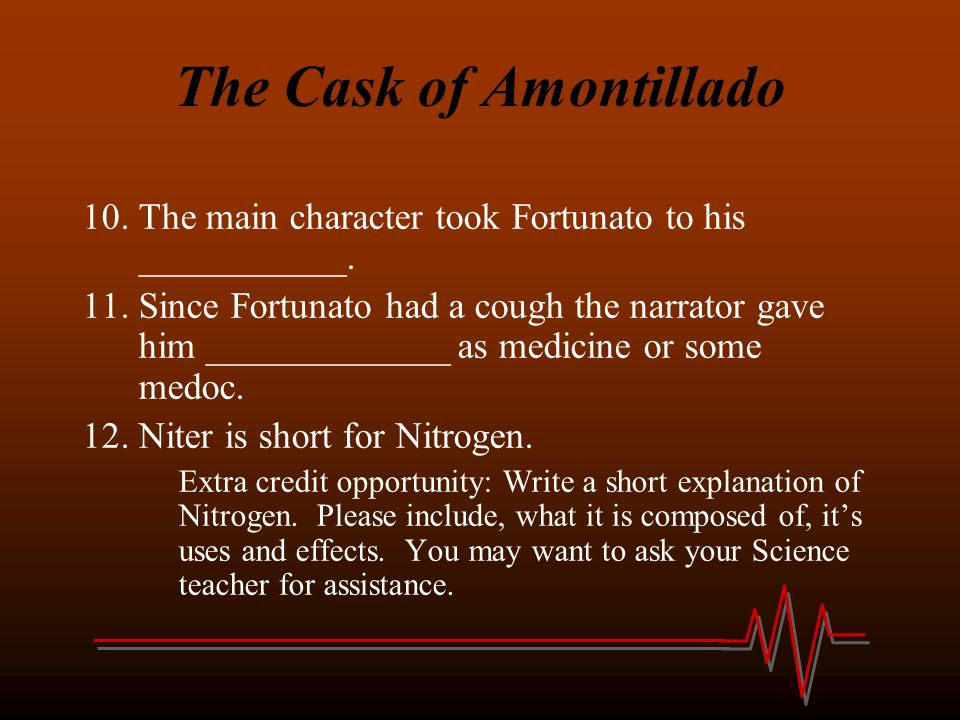 what is nitre in the cask of amontillado