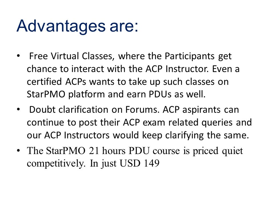 Starpmo Provides Class Room And Online Acp Agile Certification
