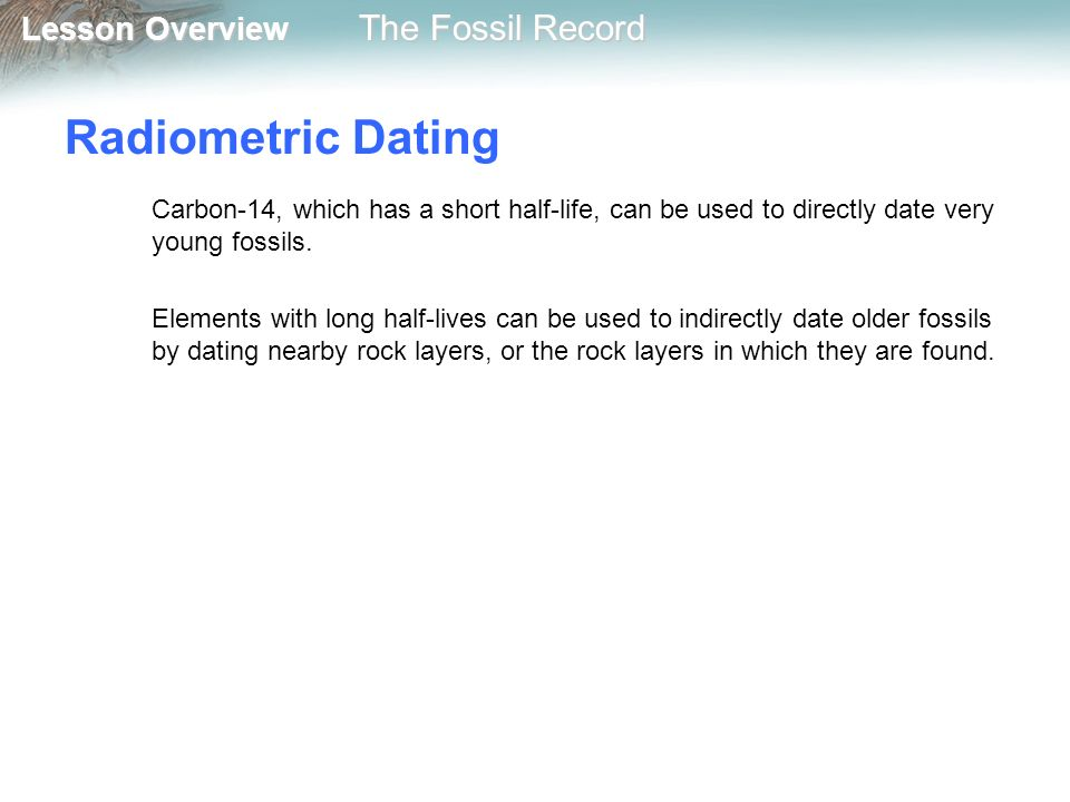 Carbon dating fossil record