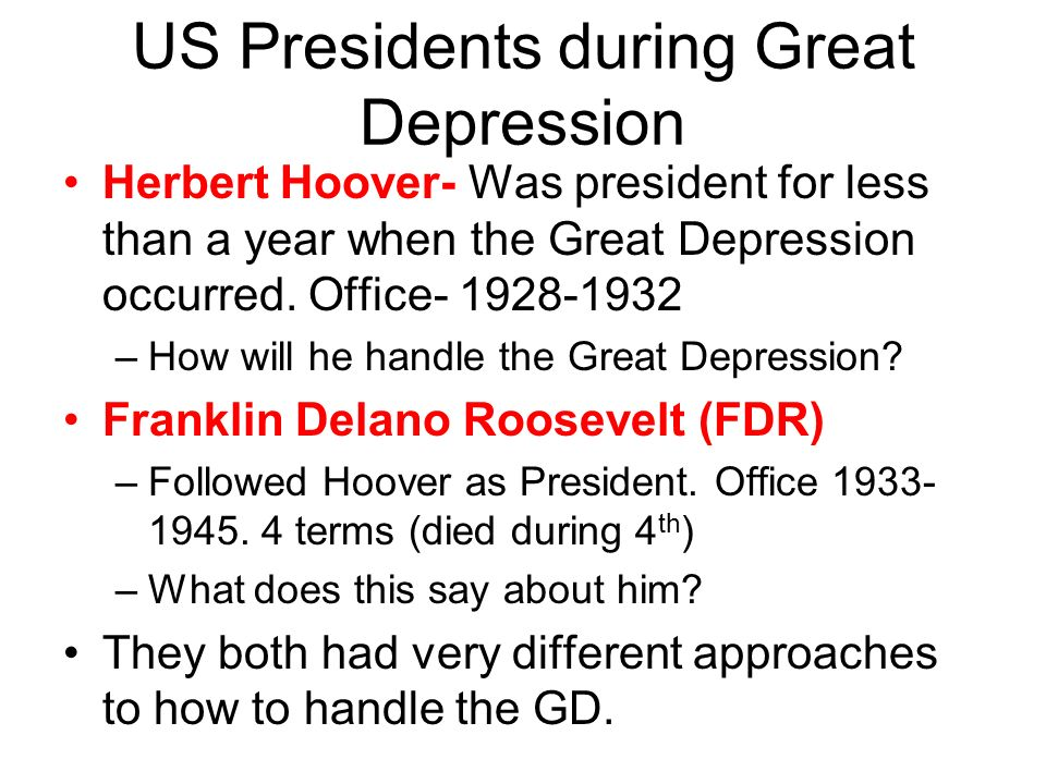 Compare Contrast Hoover Roosevelt Today S Objective