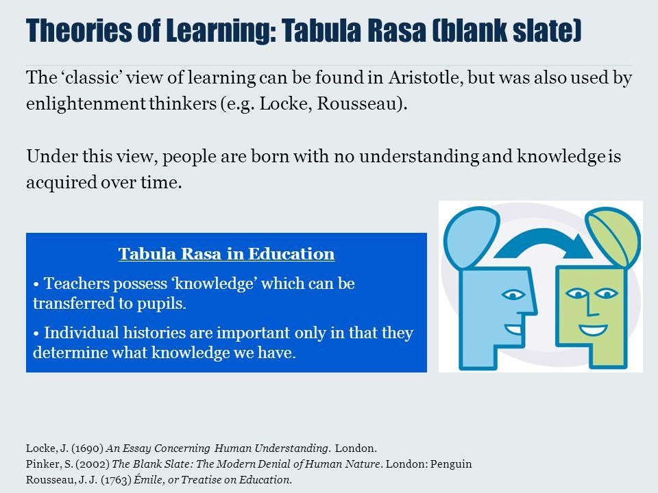 tabula rasa education