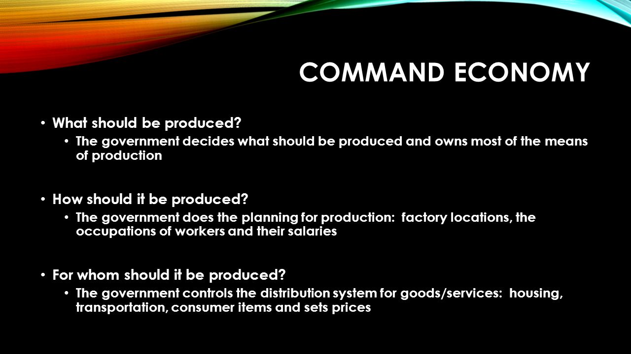 what does command economy mean