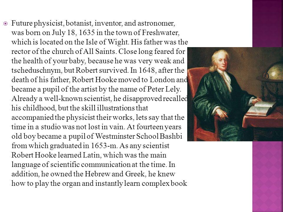 robert hooke scientist biography