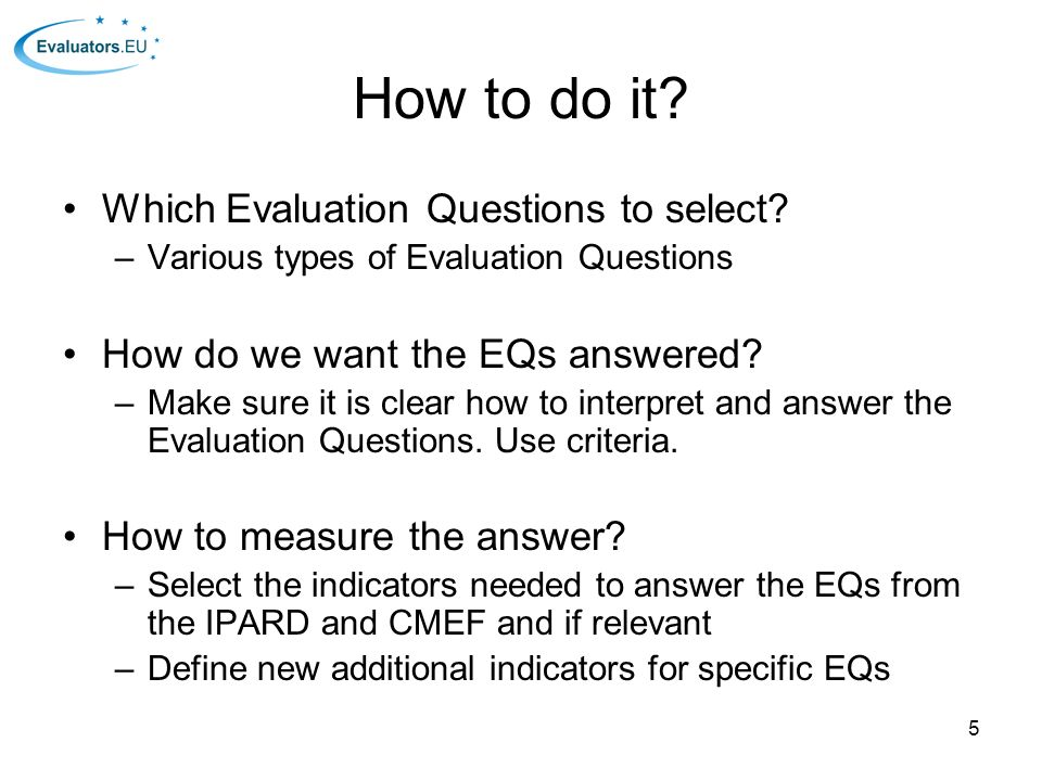 how to make an evaluation