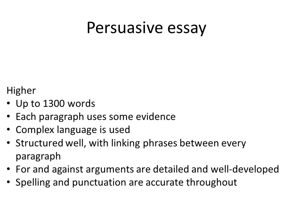 1 persuasive essay higher up to 1300 words each paragraph