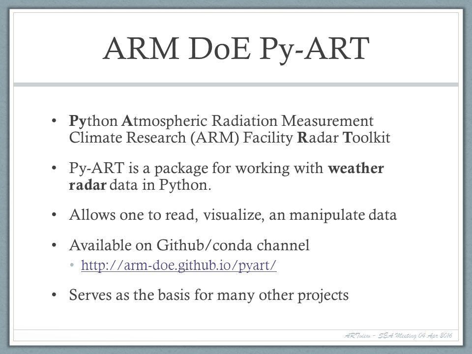 ARTview A Community Weather Radar Data GUI Contributors Anderson