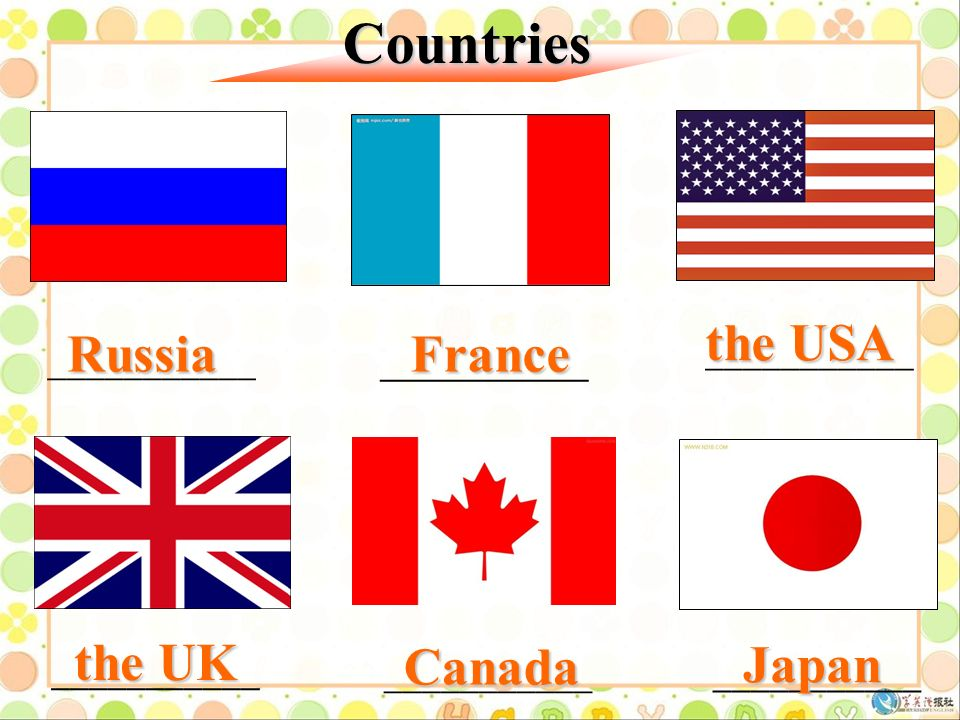 A world map china america the usa canada japan englandthe uk 3 russia france the usa the uk japan canada countries gumiabroncs Gallery