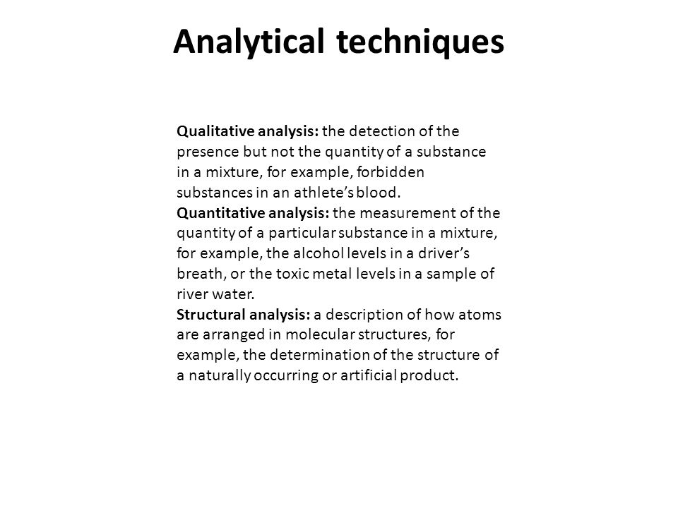 Part 1 Modern Analytical Chemistry Analytical Techniques