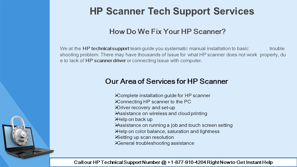 We are a HP tech support provider for HP users facing different