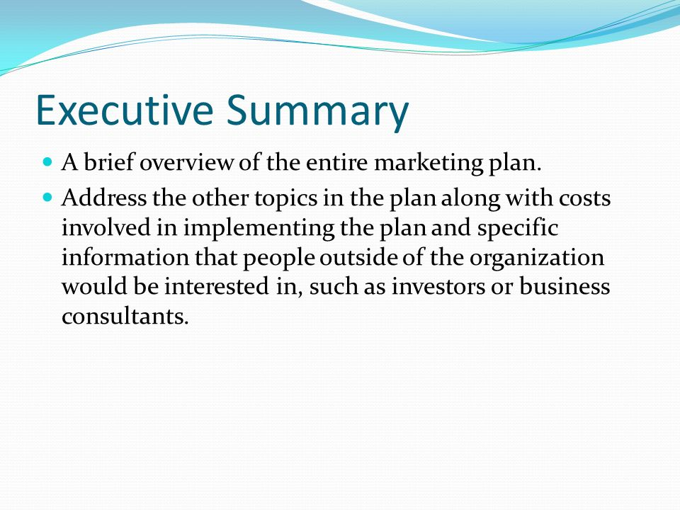 making it happen executive summary a brief overview of the entire