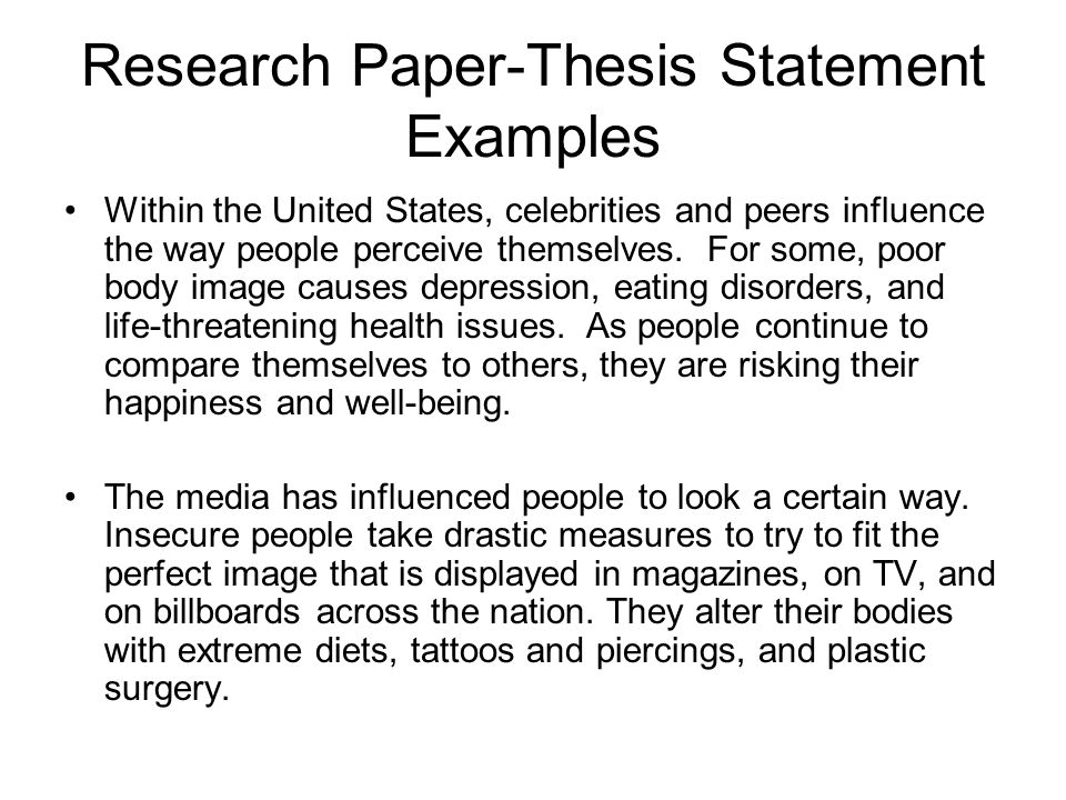 thesis statement for causes of depression Final thesis statement anorexia is a dangerous illness that affects a person, not only mentally, but  causes of anorexia a list some causes of depression b who.
