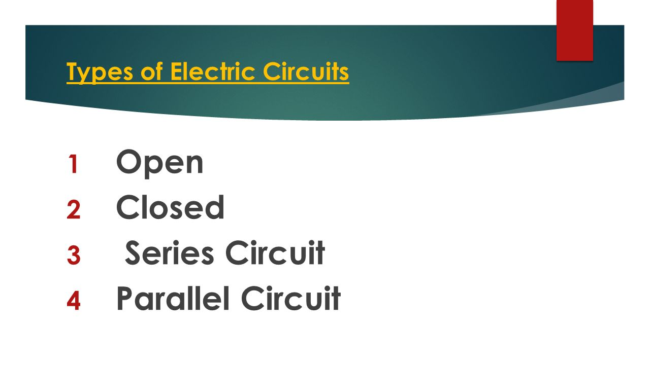 Electrical Circuits 6p3a1 Energy Series Of 12 Types Electric 1 Open 2 Closed 3 Circuit 4 Parallel