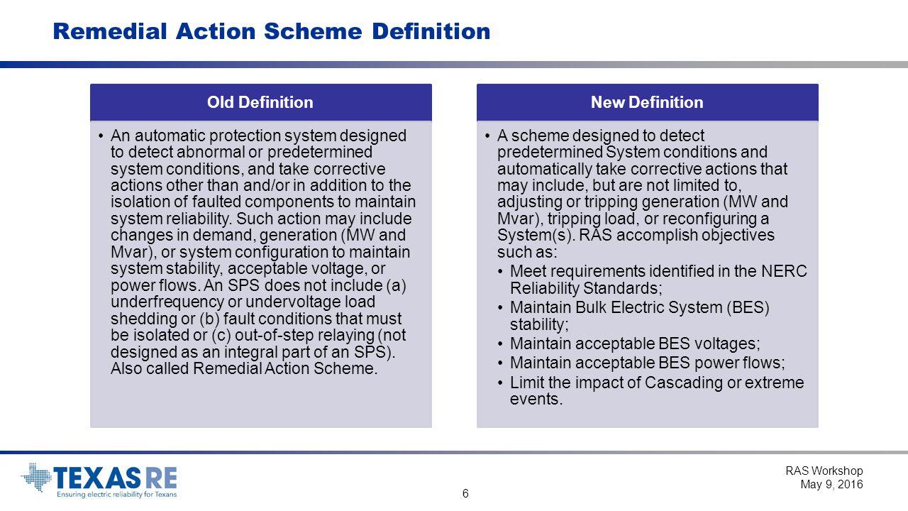 Remedial Action Scheme Workshop RAS Workshop May 9, ppt download