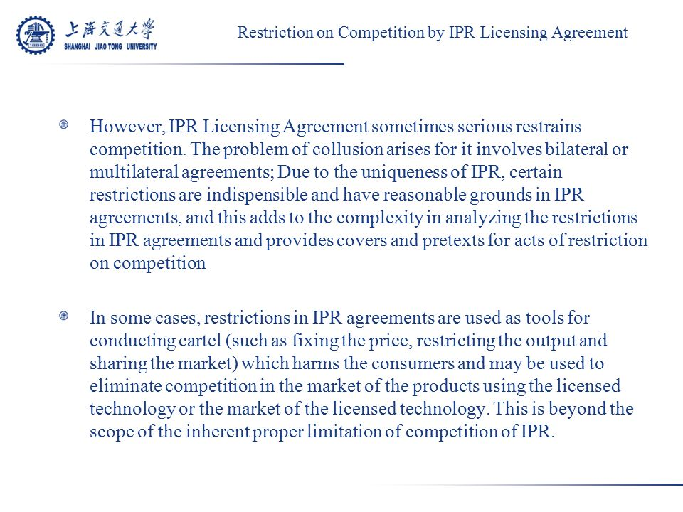 Identification Of Monopoly Agreement Involving Intellectual Property