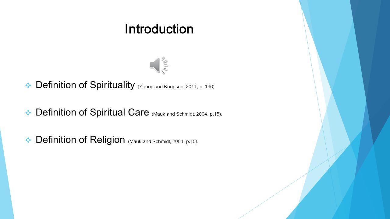 spirituality in nursing definition