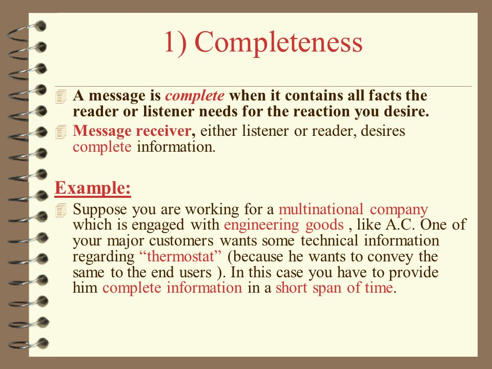 7 cs of communication with examples ppt