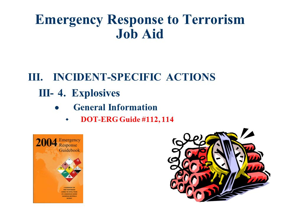 terrorism incident management and emergency procedures essay Subject area - politics terrorism threat politics terrorism threat politics defeating terrorism abstract terrorism threatens a 'terrorist incident' consists of a mixture of conditions that may lead to a terrorist act and will require mitigating or management essays - leadership and management.