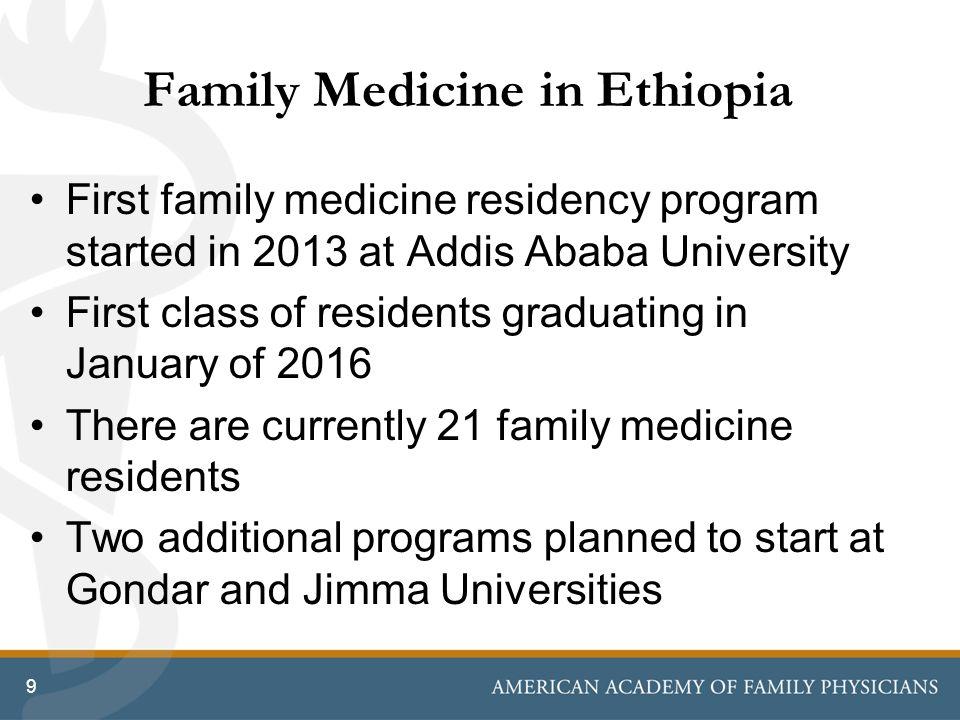 Family Medicine Development in Ethiopia Weyinshet Gossa, MD, MPH
