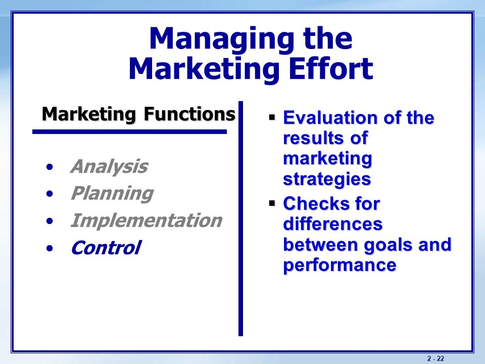 an evaluation of present marketing strategies of a company Marketing is the process of introducing and promoting a product and service to customers it contains marketing strategies and advertising methods used for product promotion marketing is one important method to satisfy the society's requirements and regulate economic patterns.