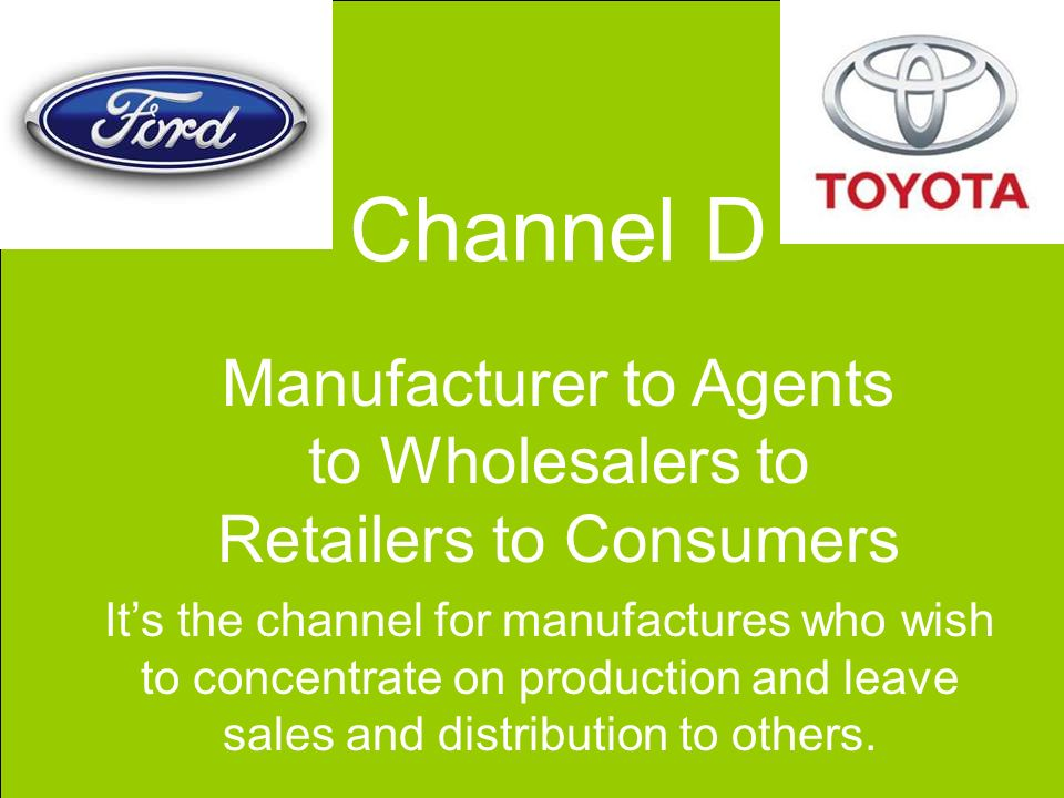 toyota distribution channel