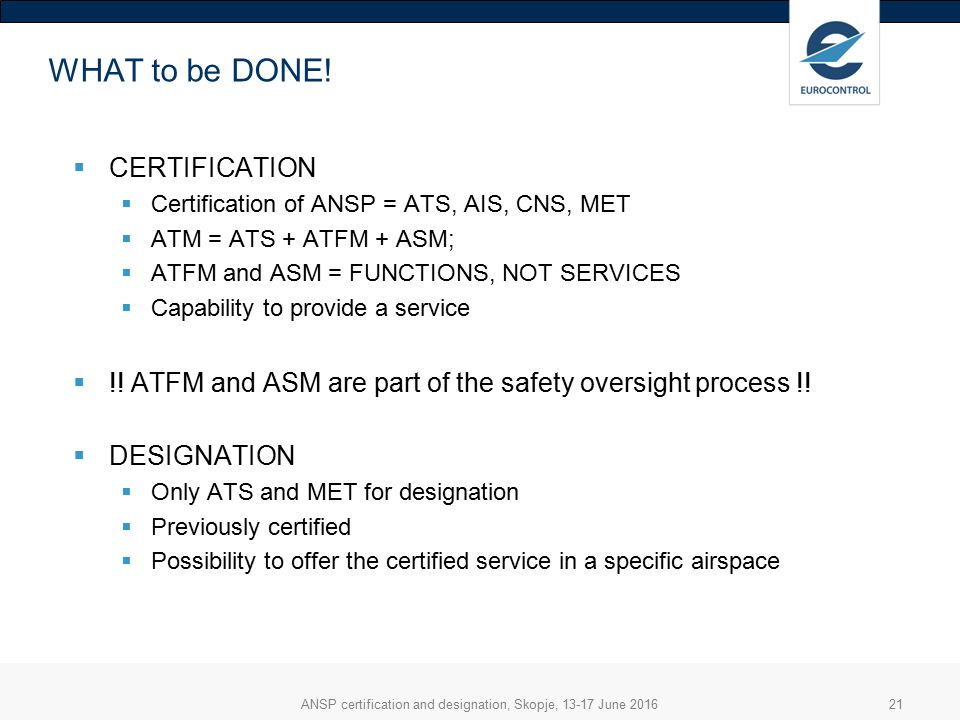 Ansp Certification And Designation Roles Responsibilities