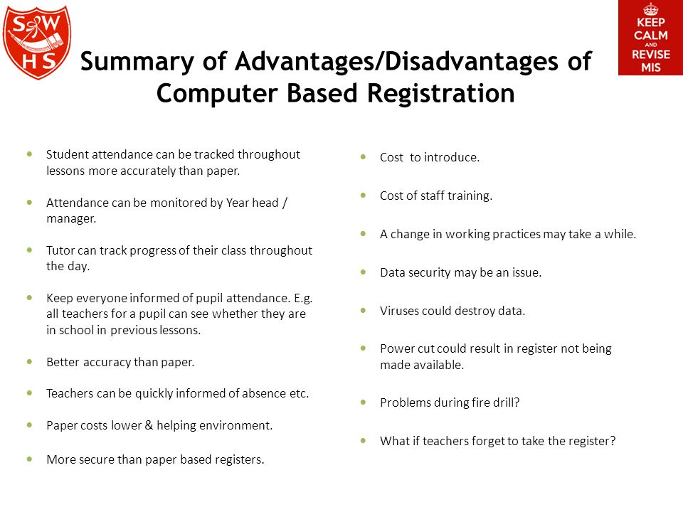 Management Information Systems & School Registration ppt