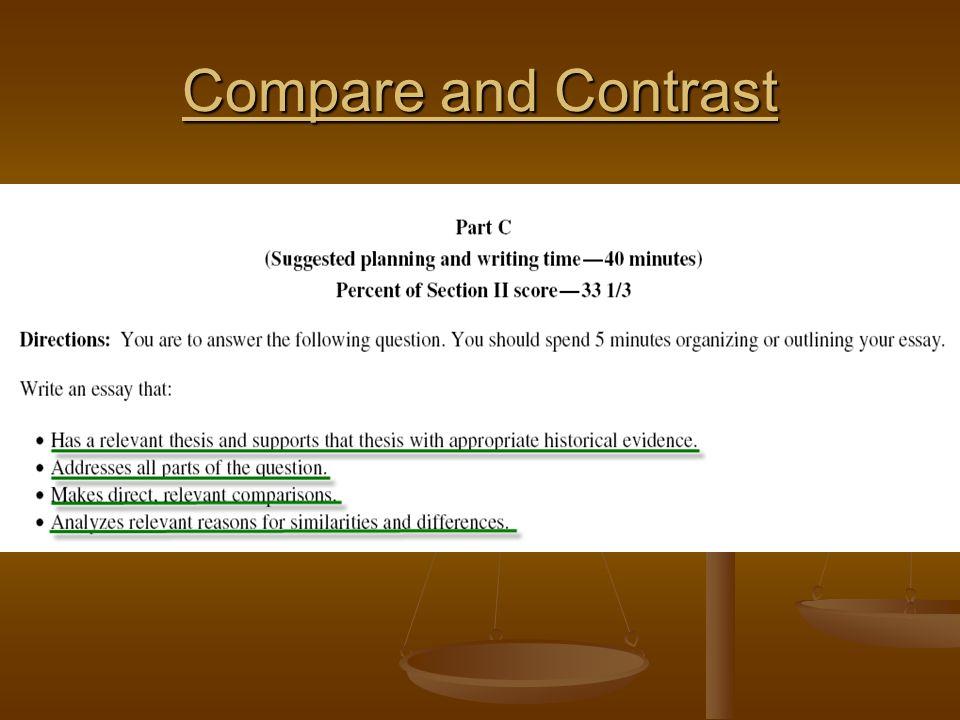 Ap world history compare and contrast sample essay ignatieff resume