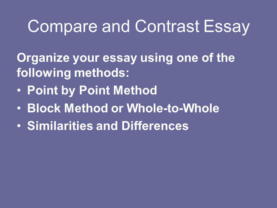 Healthy Living Essay  Compare And Contrast Essay Organize Your Essay Using One Of The  Following Methods Point By Point Method Block Method Or Wholetowhole  Similarities And  Essay On Newspaper In Hindi also Essay About English Class Informational And Explanatory Writing Writing A Compare And  Essay Papers Examples
