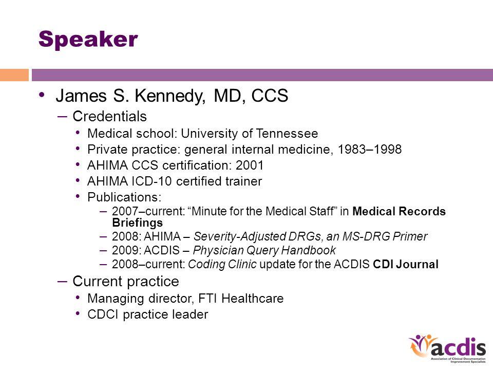 James S Kennedy Md Ccs Managing Director Fti Healthcare Atlanta