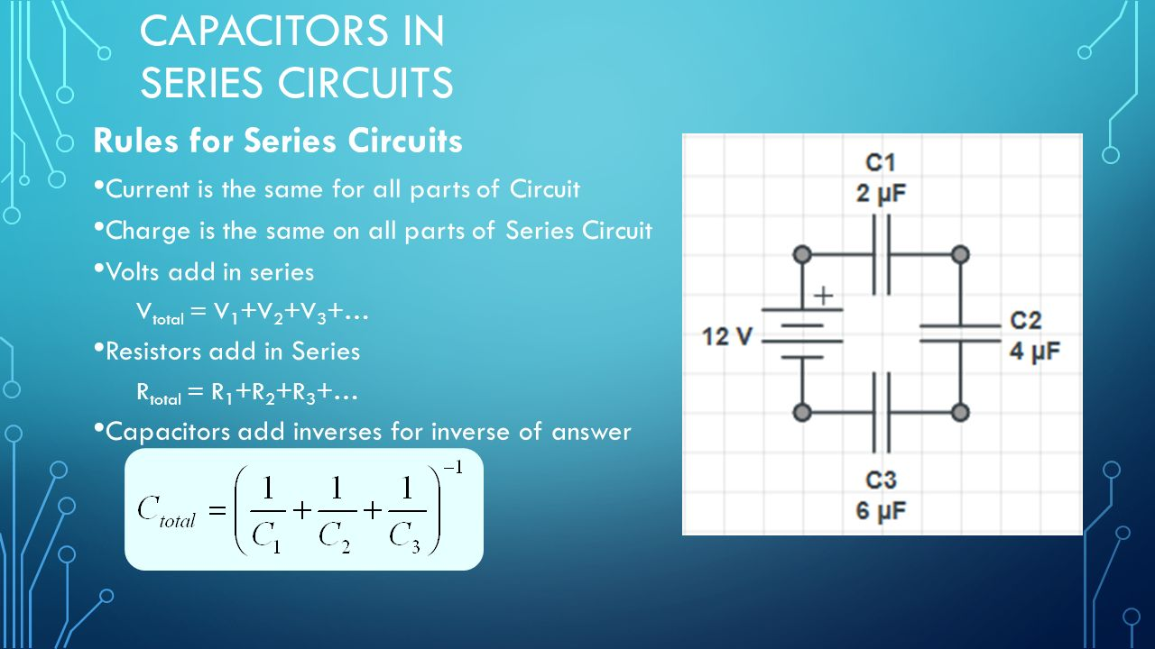 Capacitor Circuits In Series Parallel Combo Ppt Download Circuit Diagram 2 Capacitors