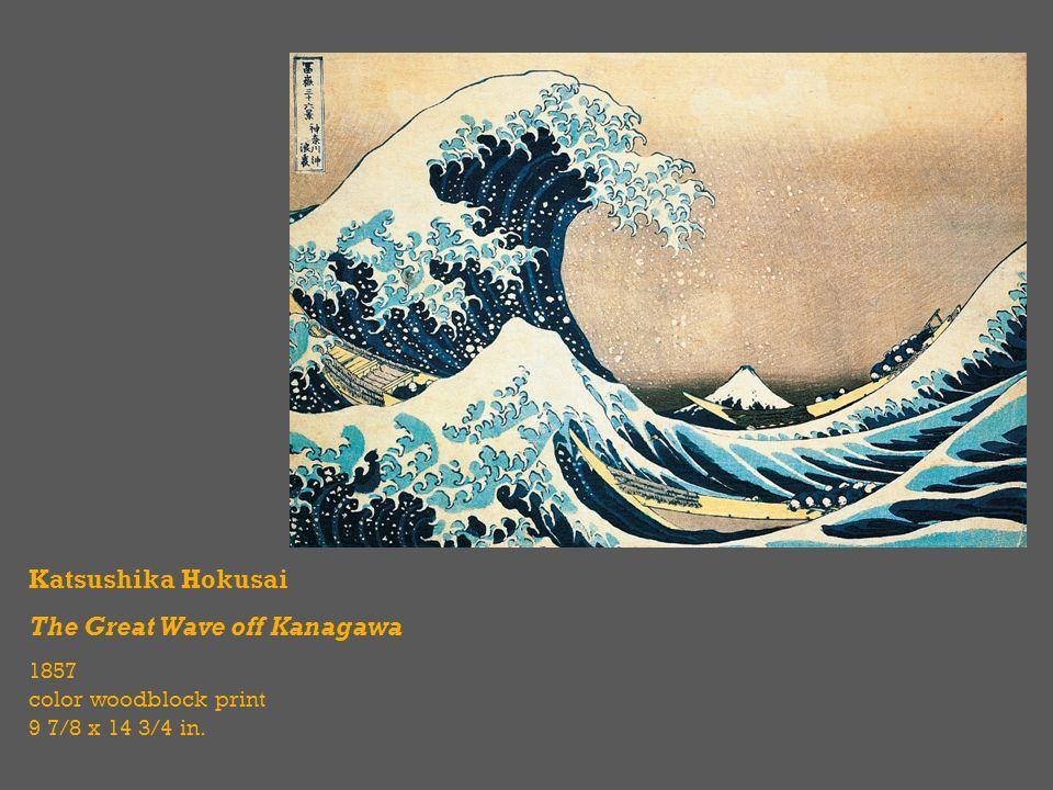 4 Katsushika Hokusai The Great Wave Off Kanagawa 1857 Color Woodblock Print 9 7 8 X 14 3 In