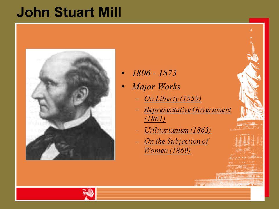 john stuart mill on government