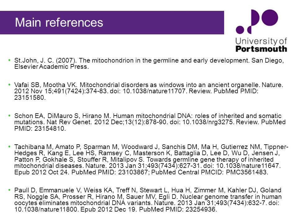 Mitochondrial genetics during development basics importance 54 main references ccuart Images