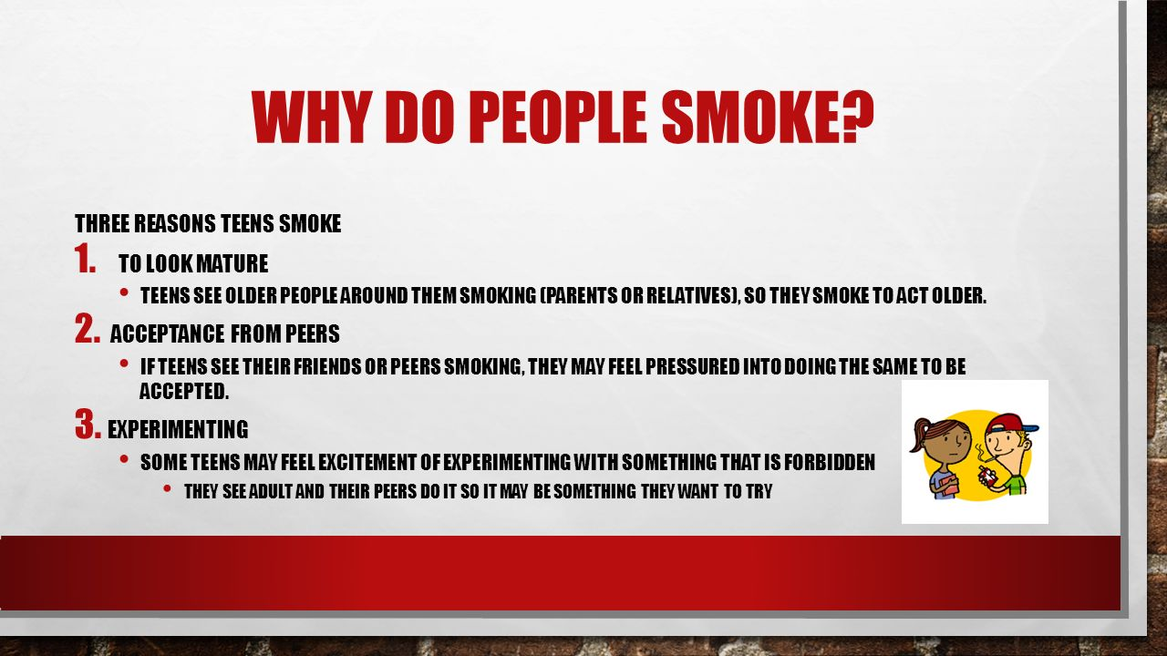 Why do people smoke 58