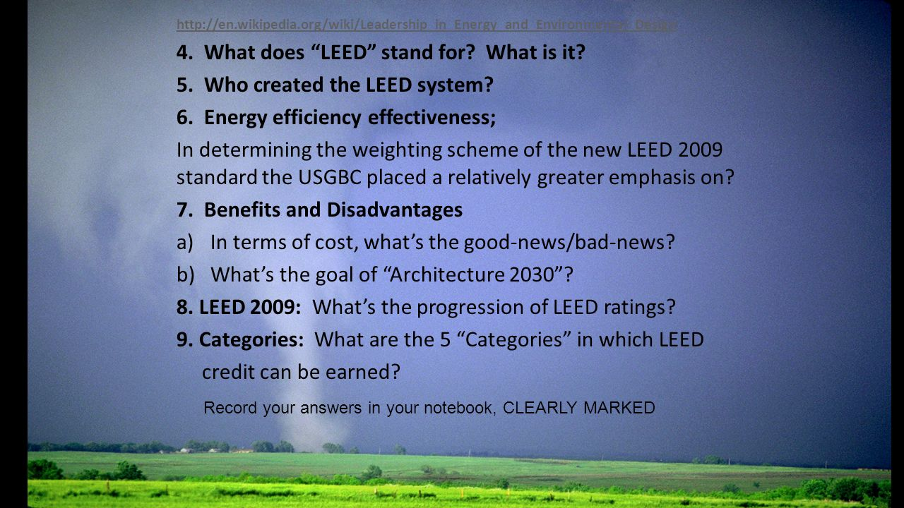 Leed Certification The Leaders Of Greensburg Kansas Asked How