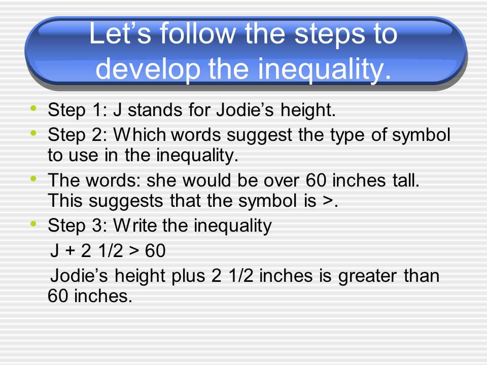 Equations And Inequalities Grade 6 Standard 1b2a Ppt Download
