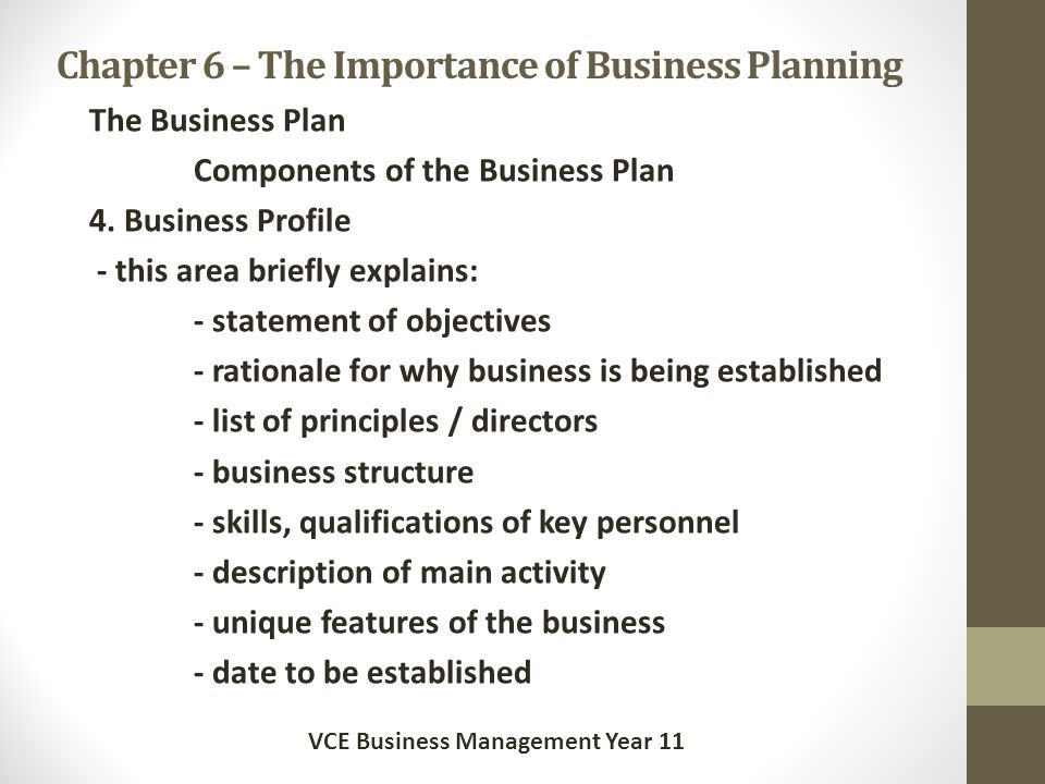12 components of a business plan