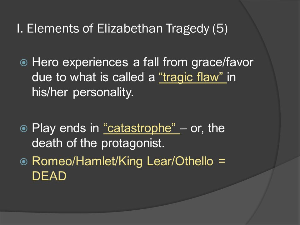 6 elements of tragedy