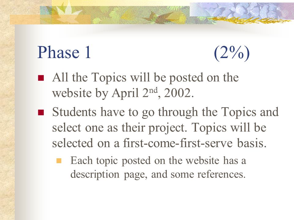 Advanced Topics in Algorithms SPRING TERM PROJECT Is worth