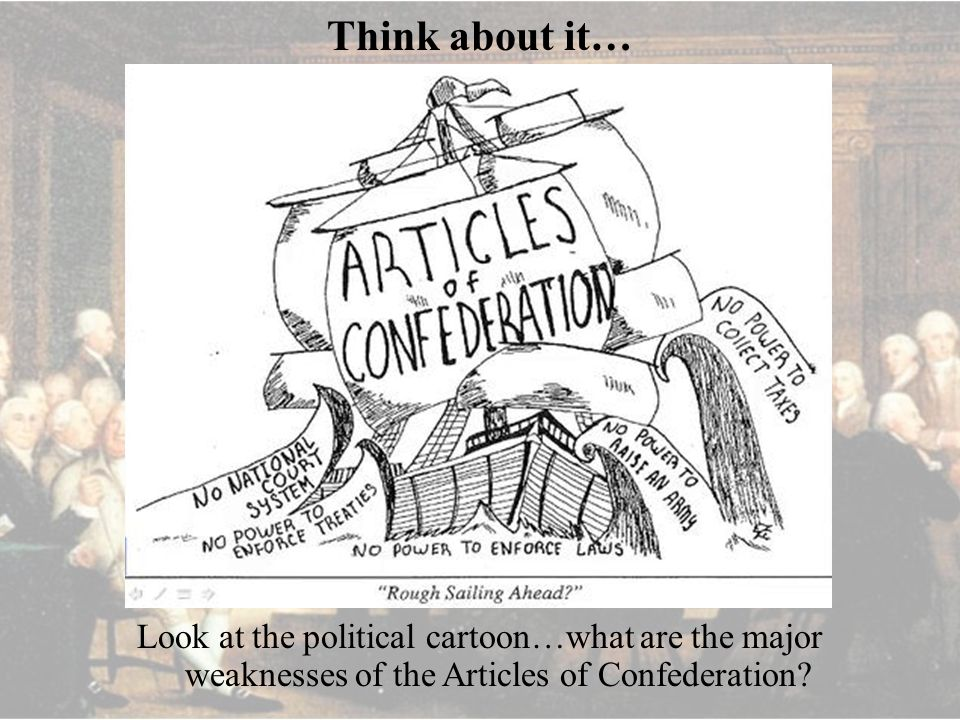 Think about it\u2026 Look at the political cartoon\u2026what are the