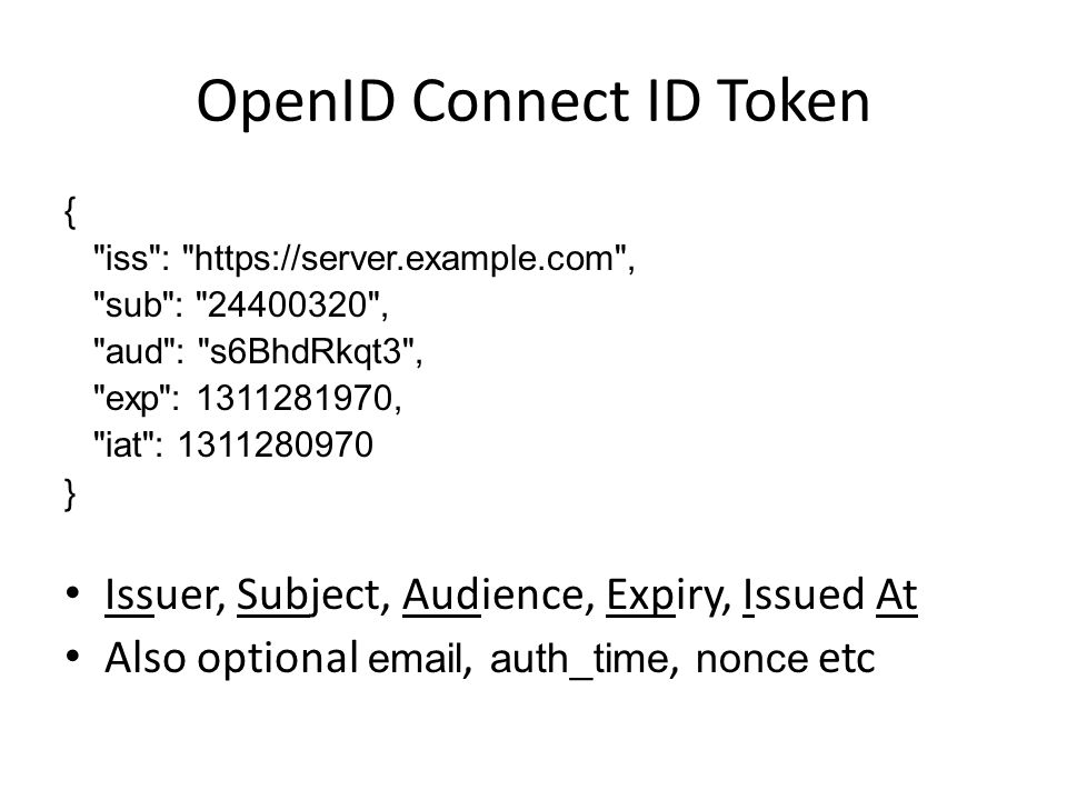 OpenID Connect: An Overview Pat Patterson Developer