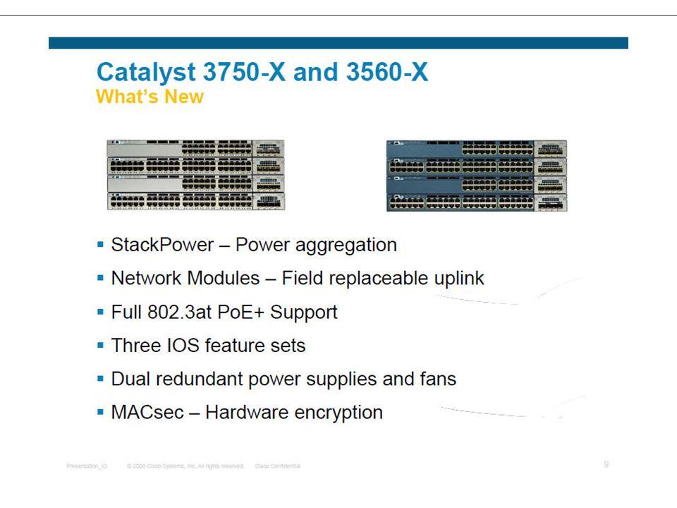 Cisco Catalyst 3750-X and Cisco 3560-X The Cisco Catalyst