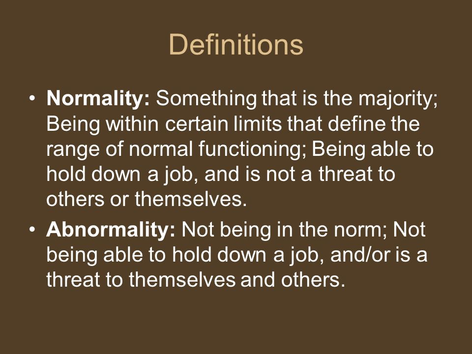 define normal and abnormal behavior in psychology