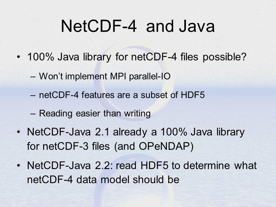 NetCDF-Java version 2 2 Common Data Model John Caron Unidata
