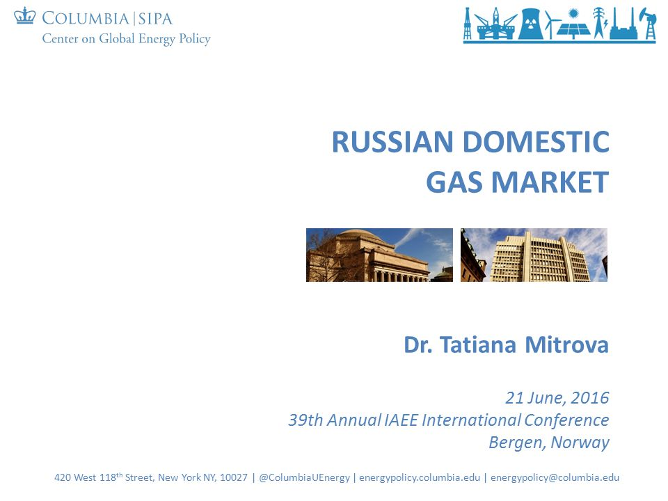RUSSIAN DOMESTIC GAS MARKET Dr.